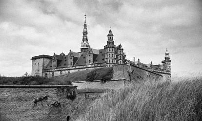 "Kronborg Slot in Helsingor. This was the castle that was the setting for Shakespeare's ""Hamlet""."