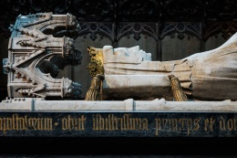 The UNESCO site of Roskilde Domkirke contains the remains of 39 Danish monarchs including those of Margrete 1st, Queen of the North (1375-1412). Work began in the 1170's for this first Gothic Cathedral in Scandanavia.